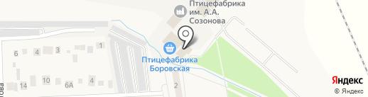 Фабричный на карте Боровского