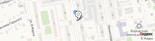 Боровская детская библиотека на карте Боровского