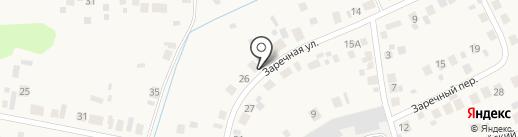 Заречный на карте Боровского
