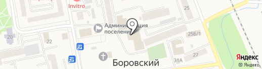 Сирень на карте Боровского