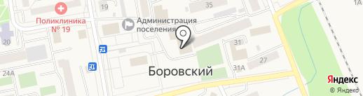 Магазин женской и мужской одежды на карте Боровского