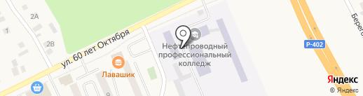 Тюменский нефтепроводный профессиональный лицей на карте Винзилей
