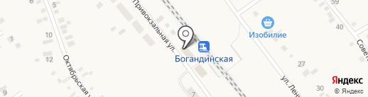Богандинская на карте Богандинского
