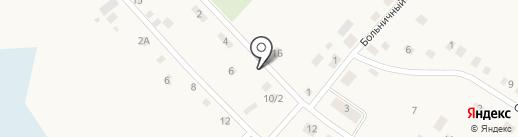 Живинка на карте Борок