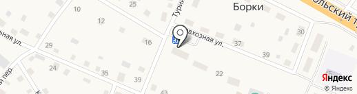 Банкомат, Западно-Сибирский банк Сбербанка России на карте Борок