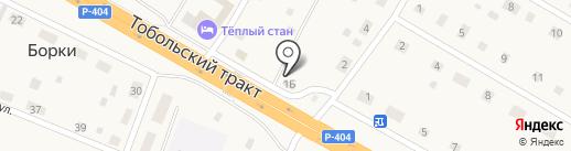 Продовольственный магазин на карте Борок