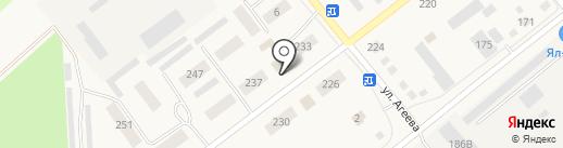 Сеть магазинов смешанных товаров на карте Ялуторовска