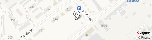 Уралочка на карте Ялуторовска