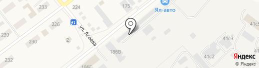 УАЗ-Ялуторовск на карте Ялуторовска