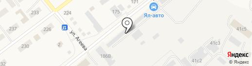 Енисей на карте Ялуторовска