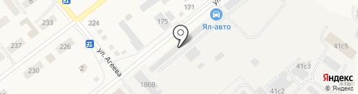 Омега на карте Ялуторовска