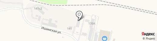 Паритет на карте Ялуторовска