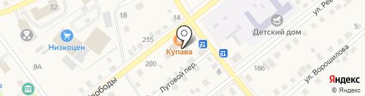 Купава на карте Ялуторовска