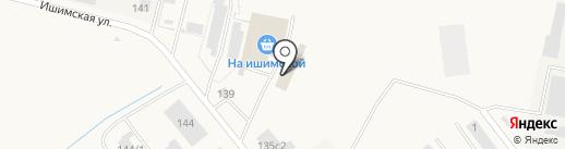 На Ишимской на карте Ялуторовска