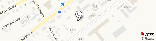 Городские тепловые сети на карте Ялуторовска