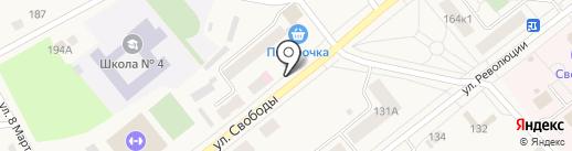 Киоск по продаже мороженного на карте Ялуторовска