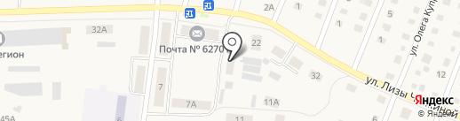 Север на карте Ялуторовска