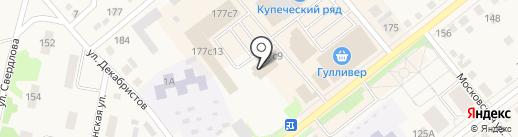 Радио Сити, FM 107.2 на карте Ялуторовска