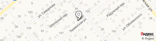 Компас на карте Ялуторовска