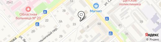 Медовый на карте Ялуторовска