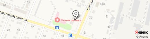 Общежитие, ТюмГНГУ на карте Ялуторовска