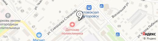 Детская поликлиника на карте Ялуторовска