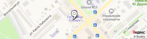 Автостоянка на ул. Ленина на карте Ялуторовска