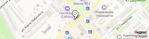 Серебряная нить на карте Ялуторовска