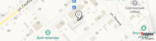 Красавчик на карте Ялуторовска