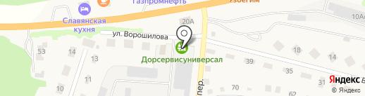 Челны на карте Заводоуковска