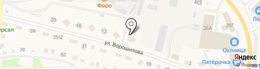 Энки на карте Заводоуковска