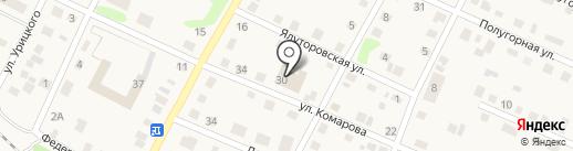 Магазин промтоваров на ул. Комарова на карте Заводоуковска