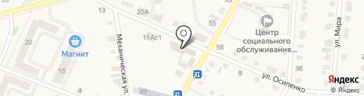 Залинейный на карте Заводоуковска