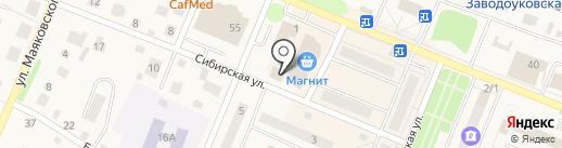 Модерн на карте Заводоуковска