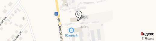 Поревит на карте Заводоуковска