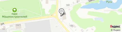 Подарыч на карте Заводоуковска