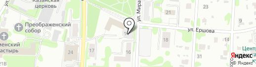 Почтовое отделение №6 на карте Тобольска