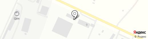 Грузовик на карте Тобольска