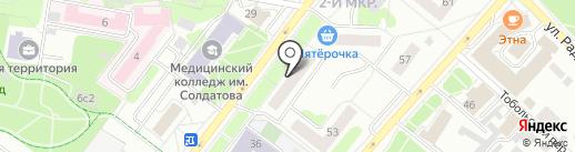 Дамский угодник на карте Тобольска