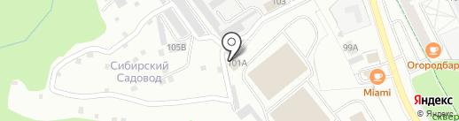 Межрегиональное управление государственного автодорожного надзора по Тюменской области, ХМАО-Югре и ЯНАО Федеральной службы по надзору в сфере транспорта на карте Тобольска