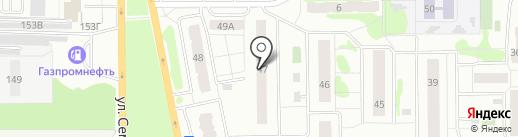 Продуктовый магазин на ул. 7-й микрорайон на карте Тобольска