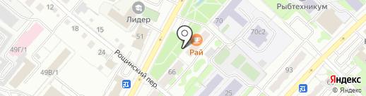Вист-авто на карте Тобольска