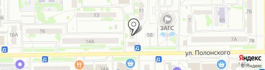 Московская Ярмарка на карте Тобольска