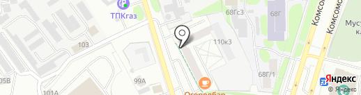 Акватель на карте Тобольска