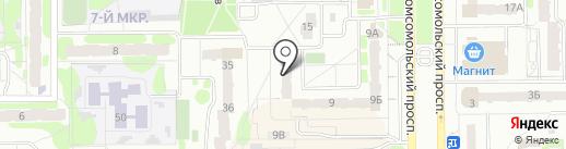 Градопроект на карте Тобольска