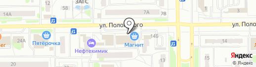 Киоск по продаже фастфудной продукции на карте Тобольска