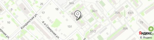Селена на карте Тобольска