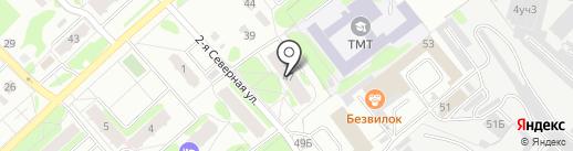 Леандр на карте Тобольска