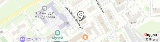 Караоке-бар на Знаменского на карте Тобольска