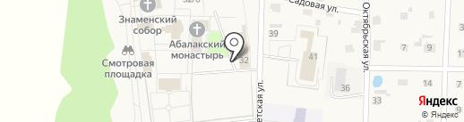 Свято-Знаменский Абалакский монастырь на карте Абалака